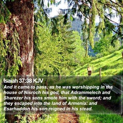 Isaiah 37:38 KJV Bible Verse Image