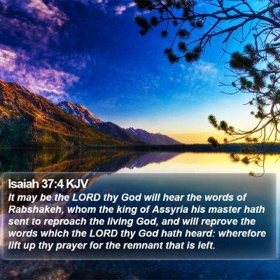 Isaiah 37:4 KJV Bible Verse Image
