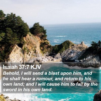 Isaiah 37:7 KJV Bible Verse Image
