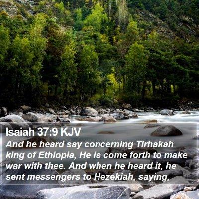 Isaiah 37:9 KJV Bible Verse Image