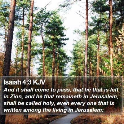 Isaiah 4:3 KJV Bible Verse Image