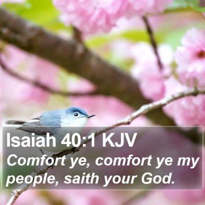 Isaiah 40:1 KJV Bible Verse Image