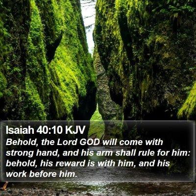 Isaiah 40:10 KJV Bible Verse Image