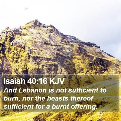 Isaiah 40:16 KJV Bible Verse Image