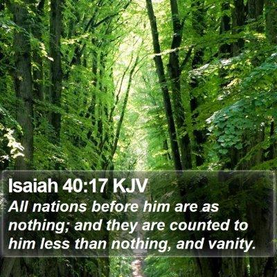 Isaiah 40:17 KJV Bible Verse Image