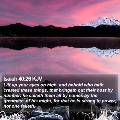 Isaiah 40:26 KJV Bible Verse Image