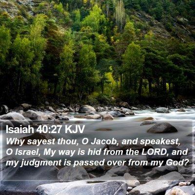 Isaiah 40:27 KJV Bible Verse Image
