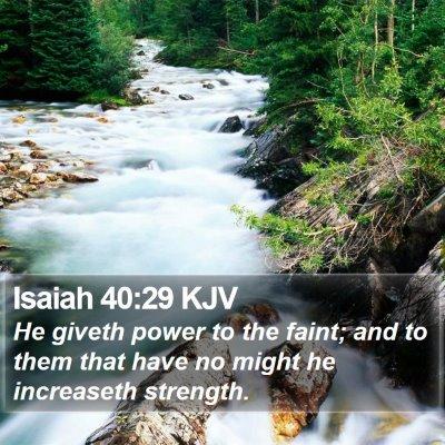 Isaiah 40:29 KJV Bible Verse Image