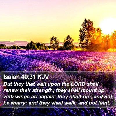 Isaiah 40:31 KJV Bible Verse Image