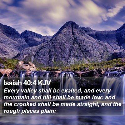Isaiah 40:4 KJV Bible Verse Image