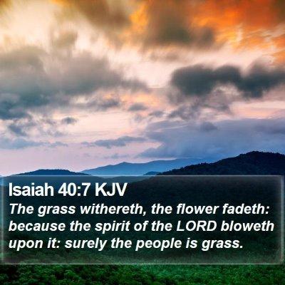 Isaiah 40:7 KJV Bible Verse Image