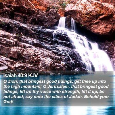 Isaiah 40:9 KJV Bible Verse Image