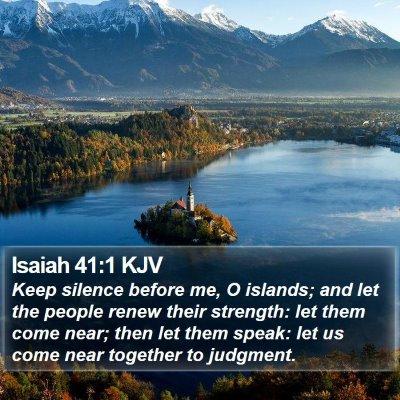 Isaiah 41:1 KJV Bible Verse Image