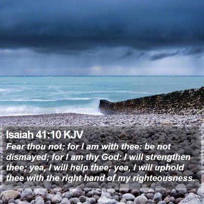 Isaiah 41:10 KJV Bible Verse Image