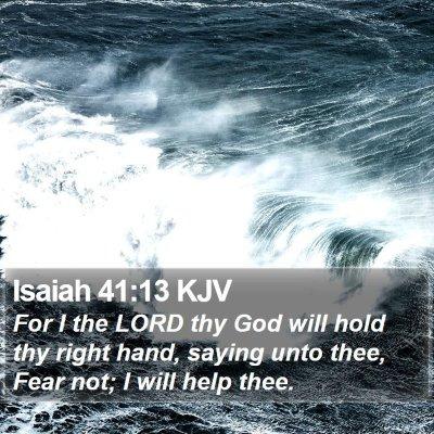 Isaiah 41:13 KJV Bible Verse Image