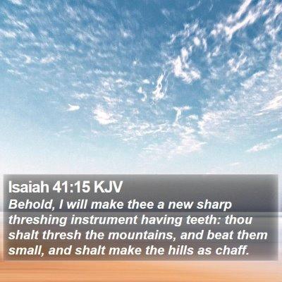 Isaiah 41:15 KJV Bible Verse Image