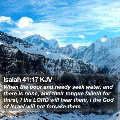 Isaiah 41:17 KJV Bible Verse Image