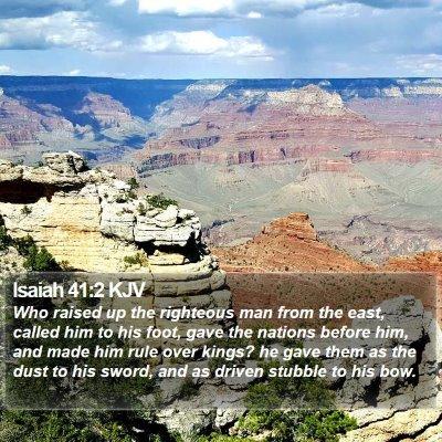 Isaiah 41:2 KJV Bible Verse Image