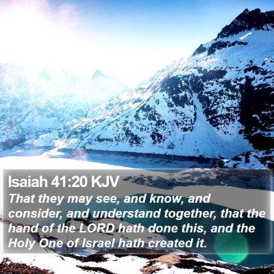 Isaiah 41:20 KJV Bible Verse Image