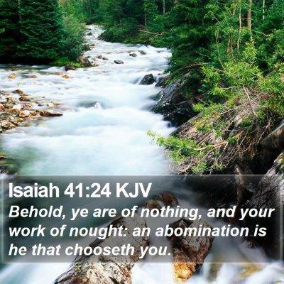 Isaiah 41:24 KJV Bible Verse Image