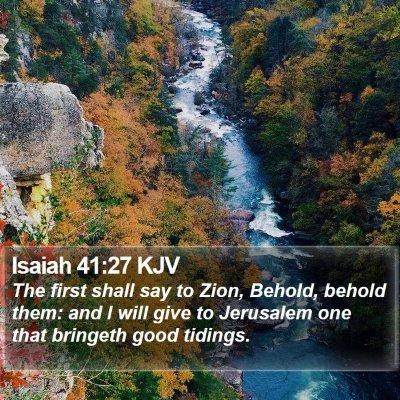 Isaiah 41:27 KJV Bible Verse Image