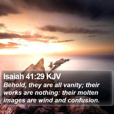 Isaiah 41:29 KJV Bible Verse Image