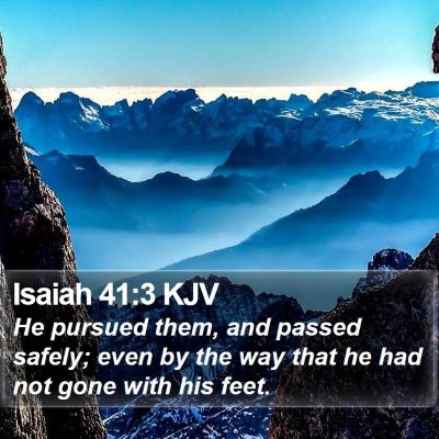 Isaiah 41:3 KJV Bible Verse Image