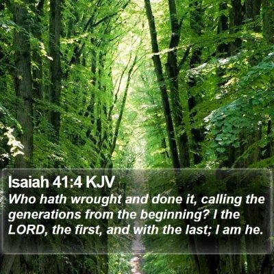 Isaiah 41:4 KJV Bible Verse Image