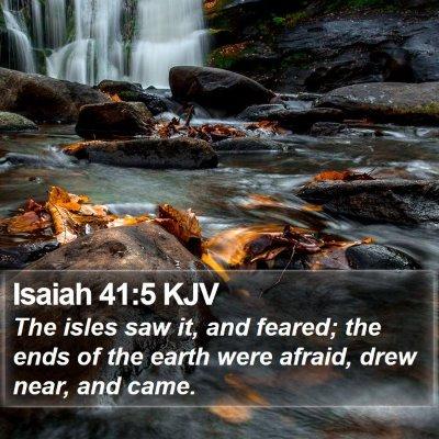 Isaiah 41:5 KJV Bible Verse Image
