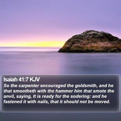 Isaiah 41:7 KJV Bible Verse Image