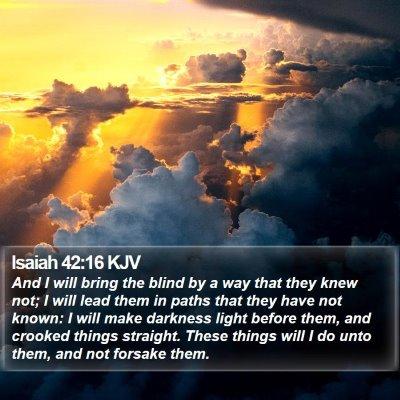 Isaiah 42:16 KJV Bible Verse Image