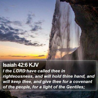 Isaiah 42:6 KJV Bible Verse Image