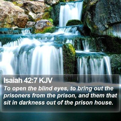 Isaiah 42:7 KJV Bible Verse Image