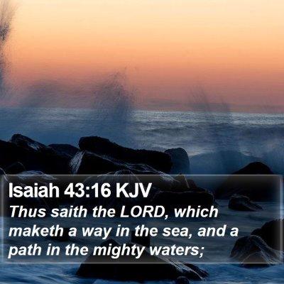 Isaiah 43:16 KJV Bible Verse Image
