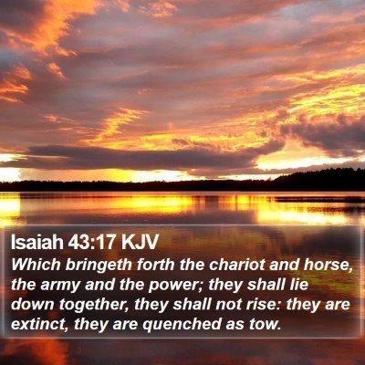 Isaiah 43:17 KJV Bible Verse Image