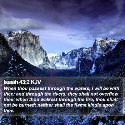 Isaiah 43:2 KJV Bible Verse Image