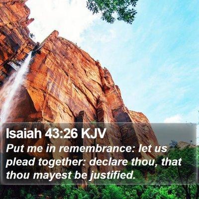 Isaiah 43:26 KJV Bible Verse Image