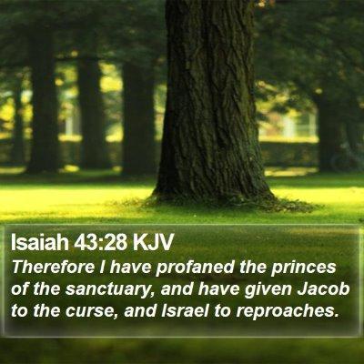 Isaiah 43:28 KJV Bible Verse Image