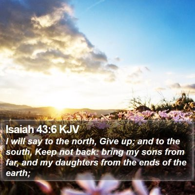 Isaiah 43:6 KJV Bible Verse Image
