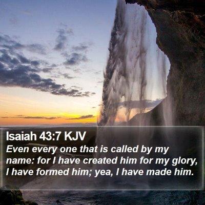 Isaiah 43:7 KJV Bible Verse Image