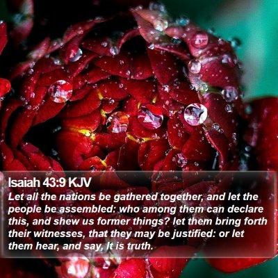 Isaiah 43:9 KJV Bible Verse Image