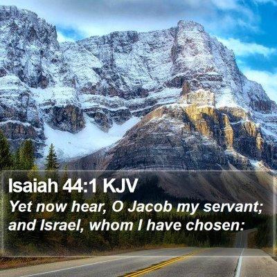 Isaiah 44:1 KJV Bible Verse Image