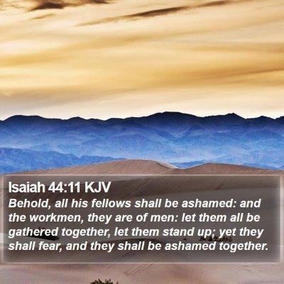 Isaiah 44:11 KJV Bible Verse Image