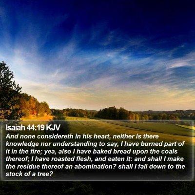 Isaiah 44:19 KJV Bible Verse Image