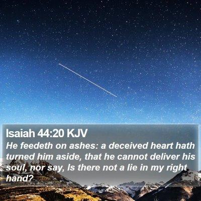 Isaiah 44:20 KJV Bible Verse Image