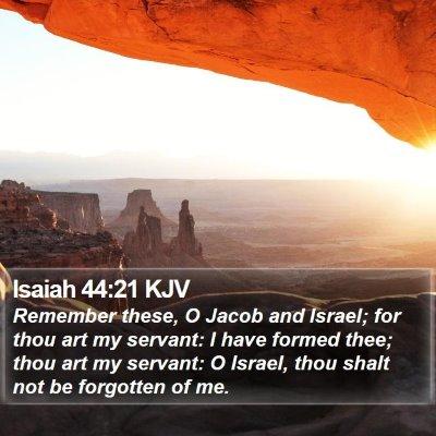 Isaiah 44:21 KJV Bible Verse Image