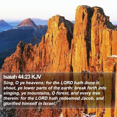 Isaiah 44:23 KJV Bible Verse Image