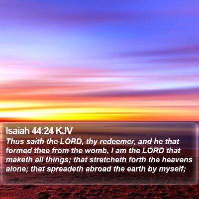 Isaiah 44:24 KJV Bible Verse Image