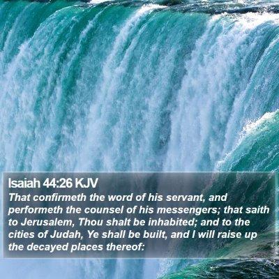 Isaiah 44:26 KJV Bible Verse Image