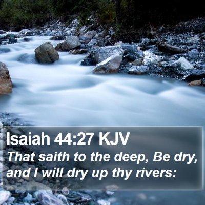 Isaiah 44:27 KJV Bible Verse Image